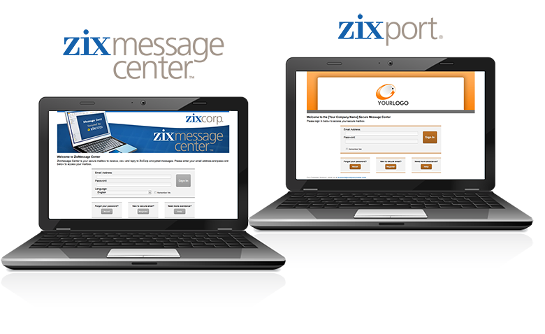 With Zix Professional Bundle, you will have a customized and branded ZixPort Interface