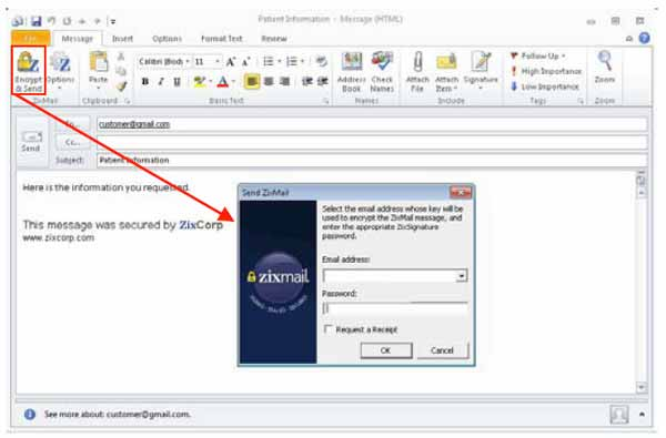 Using ZixMail for Outlook 2010